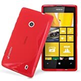 Fosmon DURA S Series Flexible SLIM-Fit TPU Case for Nokia Lumia 520 (Red)
