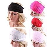 Sportmaking High Quality Store Womens Wide Headband Yoga Headband Boho Headband Running Headwrap Nonslip Hairband