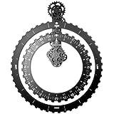 Invotis IN1552 - Orologio a ingranaggi con 2 ruote, colore: Nero
