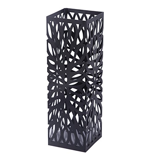 Songmics Square Metal Umbrella Stand Entryway Freestanding Umbrella Holder Rack Organizer ULUC48B