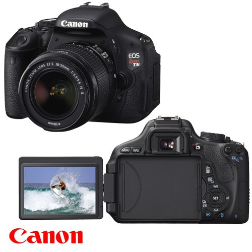 Canon EOS Rebel T3i 18 MP CMOS Digital SLR Camera and DIGIC 4 Imaging with EF-S 18-55mm f/3.5-5.6 IS Lens + Canon EF-S 55-250mm f/4.0-5.6 IS Telephoto Zoom Lens