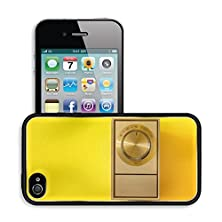 buy Luxlady Premium Apple Iphone 4 Iphone 4S Aluminum Backplate Bumper Snap Case Image Id 30741609 Vintage Themostat On Bright Yellow Wall