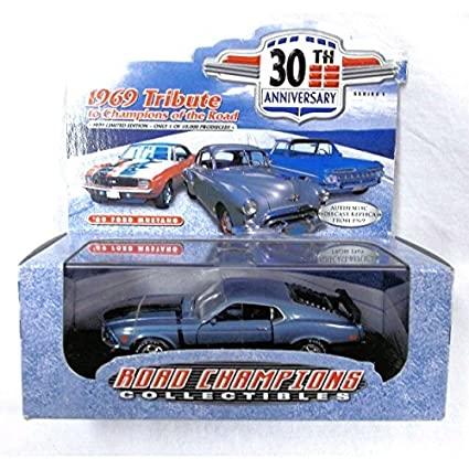 Road-Champions-Collectibles-1:43-1969-Tribute-To-Champions-Of-The-Road-69-Ford-Mustang-Blue