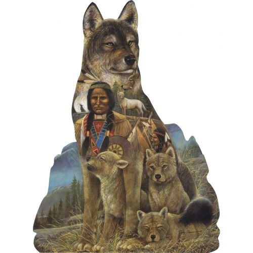 Bits and Pieces Shaped Jigsaw - Spirit of the Wolf