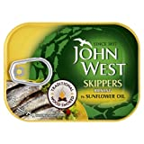 John West Skippers Wood Smoked Brisling in Sunflower Oil 6x106g