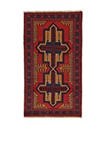 L'Eden del Tappeto Alfombra Beluchistan Rojo / Negro 80 x 144 cm