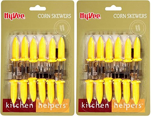 Find Discount 24 Corn on the Cob Holders,Skewers,Prongs by Hyvee Corn Holders Cookout