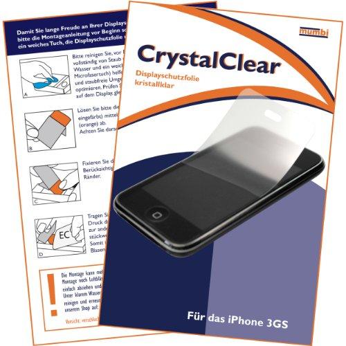 """mumbi Displayschutzfolie iPhone 3 3G 3Gs G GS Displayschutz """"CrystalClear"""" unsichtbar"""