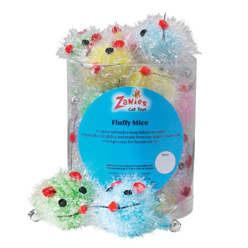 Fluffy 24 Mice Canister - Cat Toy