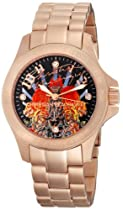 Christian Audigier Unisex ETE-112 Eternity Bright Garden Ion-Plating Rose Gold Watch