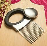 VIVISKY All-in-One Kitchen Gadget Onion Holder/Chopper Odor Remover (Black)