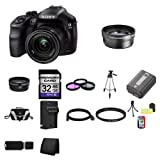 Sony A3000, ILCE-3000K, ILCE-3000KB, 20. 1MP Interchangeable Lens Camera with 18-55mm Zoom Lens (Black) 32GB Package 4