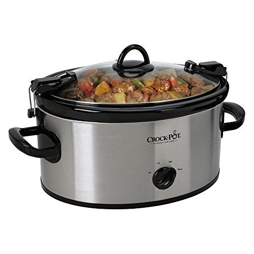 Portable Cook 6 Qt. And Carry Slow Cooker in Stainless, Dishwasher-safe Stoneware and Lid (Slow Cooker Cheap compare prices)