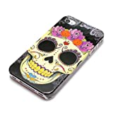 DeinPhone Skull Purple Headdress Case Cover Bumper for Apple iPhone 4/4S