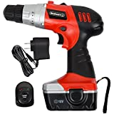 Trademark Tools 75-01120 Hawk Trademark 18V Cordless Drill with LED Light and Extras