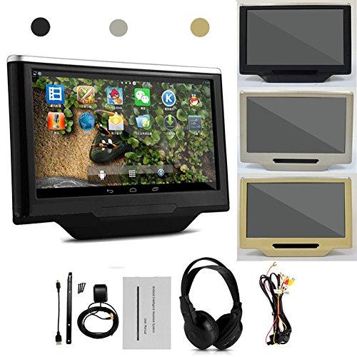 10 1 pouces cran tactile capacitif paire de lecteurs vid o appuie t te pour voiture android 4 1. Black Bedroom Furniture Sets. Home Design Ideas
