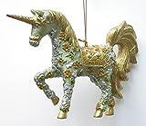 Possibilit-de-licorne-dcorative-suspension-vertdor-15-cm-ornements-dcorations-de-nol
