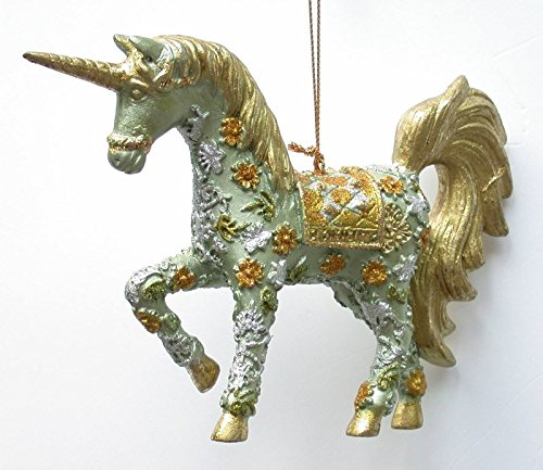 Possibilit-de-licorne-dcorative-suspension-vertdor-15-cm-ornements-dcorations-de-nol