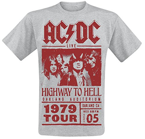 AC/DC Highway To Hell - Red Photo - 1979 Tour T-Shirt grigio sport XL