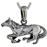 Sterling Silver Horse Pendant, 3/4 inch tall
