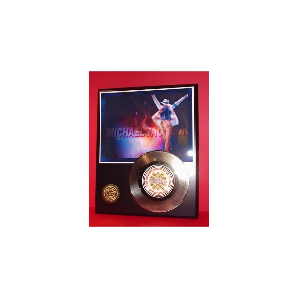Gold Record Outlet Michael Jackson 24kt Gold Record Display LTD