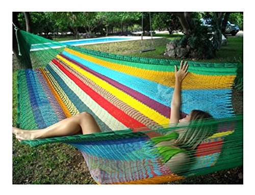 Hammocks Rada Handmade Matrimonial Size Yucatan Hammock - Tropical Multicolor (Hammock Without Stand compare prices)