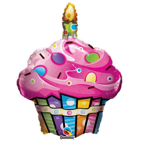 Fun and Funky Cupcake Foil Balloon - 1