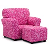 Kidzworld Kids Children Small Paisley Candy Pink Club Chair Alone