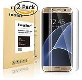 【2枚入り】Samsung Galaxy S7 Edge フィルム au SCV33 docomo SC-02H サムスン ギャラクシー S7 エッジ iVoler 耐指紋 耐衝撃 耐久性 撥油性 柔軟性 高透過率 超薄 HD画面