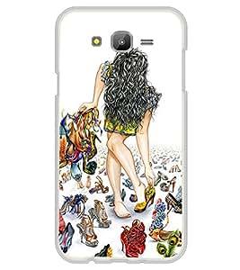 Girl trying Shoes 2D Hard Polycarbonate Designer Back Case Cover for Samsung Galaxy J5 (2015 Old Model) :: Samsung Galaxy J5 Duos :: Samsung Galaxy J5 J500F :: Samsung Galaxy J5 J500FN J500G J500Y J500M