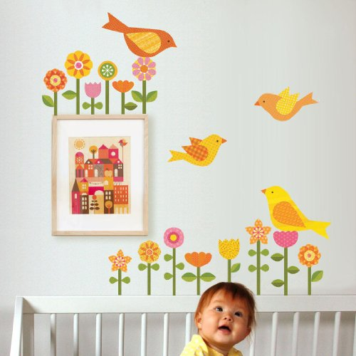 Petit Collage Fabric Wall Decal, Garden (Discontinued by Manufacturer) - 1