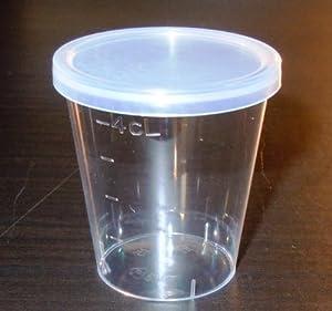 50ml Plastic Shot Glasses & Lids (Pack of 50)