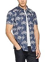Dirk Bikkembergs Camisa Hombre (Azul / Denim)