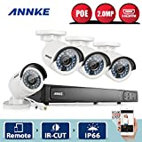 [Professional POE] Annke 1080P 4CH POE NVR Security Camera System with 4x 2.0MP(1920*1080) CCTV Network / IP Camera, No Hard Drive Included