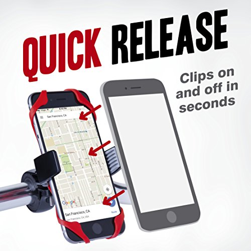 Vibrelli-Universal-Bike-Phone-Mount-Holder-Fits-any-Smart-Phone-iPhone-6-Plus-Bike-Mount-iPhone-6S-5S-5-etc-all-iPhones-Samsung-Galaxy-S5S4S3-Google-Nexus-Nokia-Motorola-Bicycle-Handlebar-Motorcycle-C