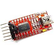 SMELEC FT232RL FTDI USB To TTL Serial Adapter Module For Arduino Mini Port 3.3V 5.5V 1 Piece