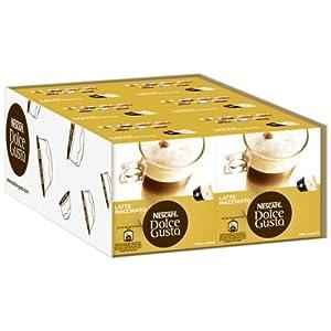 Nescafé Dolce Gusto Latte Macchiato, Pack of 6, 6 x 16 Capsules (48 Servings)