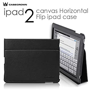 CaseCrown Royal Horizontal Case for iPad 2 - Black