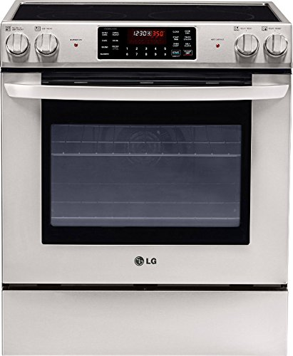 """LG 30"""" Self-Cleaning Slide-In Electric Convection Range Stainless Steel LSE3090ST"""