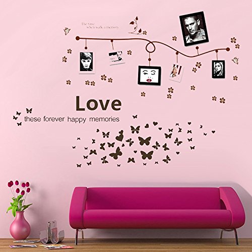 Green-Decals® Love & Memory Home Decor large Wall Stickers & Murals Wall Decals Wallpaper and Removable Wall Décor Decorative Painting Supplies & Wall Treatments Luminous Stickers for Kids Living Room bedroom wallpops decal