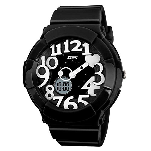 Generic Cute Lovely Design Electronic Analog And Digital Waterproof Watch Black