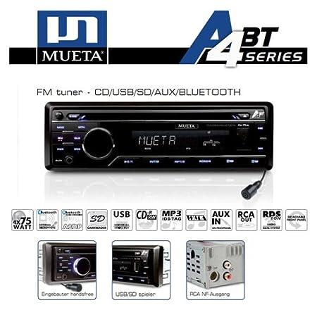A4BT - Autoradio CD/CDRW MP3 USB SD AUX Bluetooth - 4x75W