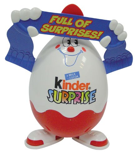 KINDER SURPRISE KINDERINO FIGURE XL, 22 cm x 19 cm, T 7, 7 pieces SURPRISE EGGS INSIDE