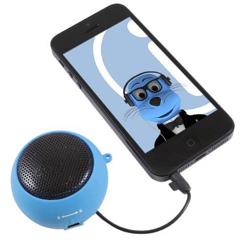 Italkonline Sky Blue Rechargeable 3.5Mm Capsule Speaker For Apple Ipod Nano 7 (7Th Generation)