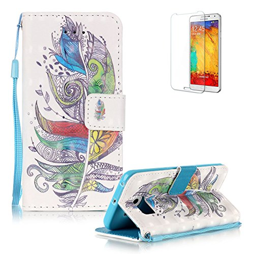 Samsung Galaxy S6 Edge Portefeuille Magnétique Housse Coque,Samsung Galaxy S6 Edge Lanyard Strap Coque Dragonne Carrying Portable Etui,Funyye Fashion