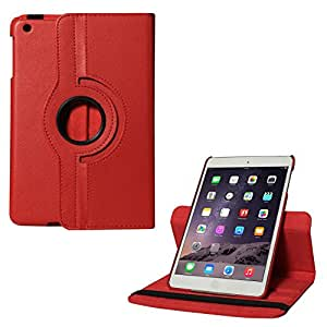 Micomy Premium 360 Degrees Rotating Smart Cover Stand Case for Apple iPad Mini (Red)