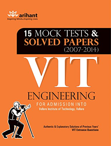 15 Mock Tests & Solved Papers (2007-2014) for VIT Engineering Image