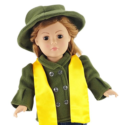"Tailored Jacket and Hat Outfit - 18 Inch Doll Clothes/clothing Fits American Girl and Other 18"" Dolls - Plus Acccesories - 1"