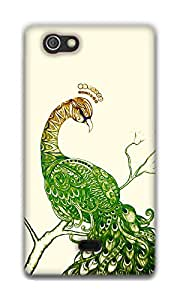 The Racoon Grip Peacock White hard plastic printed back case / cover for Sony Xperia Miro