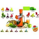 Cierie Fruits & Vegetable Juicer With Waste Collector, Steel Handle, Manual Juicer, Natural Fruit Juicer (ABSJuicer-Orange)